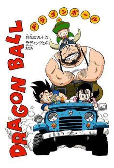 Chichi, Goku, Gohan, and the Ox King