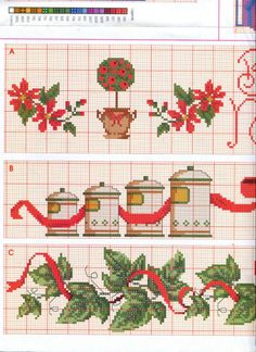 Cross Stitch Designs, Cross Stitch Patterns, Christmas Cross, Xmas, Cross Stitch Kitchen, Christmas Gift Wrapping, Plastic Canvas Patterns, Cross Stitching, Needlepoint