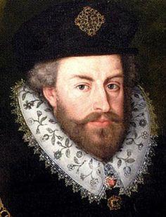 Portrait of Sir Christopher Hatton in an impressive blackwork collar.