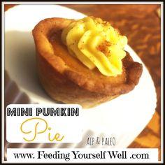 Mini pumpkin pies - AIP!