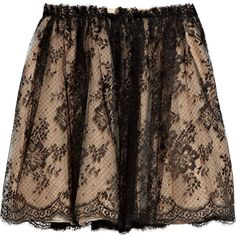 Valentino Gathered lace skirt (4.125 BRL) ❤ liked on Polyvore featuring skirts, bottoms, saias, gonne, knee length pleated skirt, valentino skirt, lace skirt, fold over skirt and scalloped lace skirt