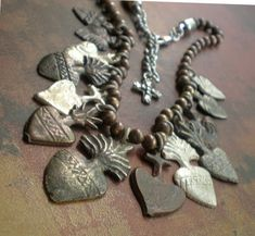 Vintage Milagro Heart Necklace