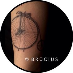 #BRÜCIUS #TATTOO #SF    #dotwork #etching #linework  #blackink #vintage #history #bicycle #grandfather #memorial