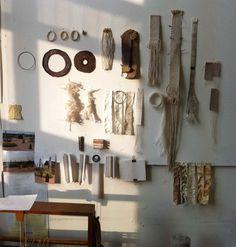 Alice Fox studio wall weave samples