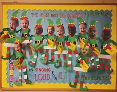 """The best way to spread Christmas cheer is singing loud for all to hear! Christmas Concert, Christmas Door, Christmas Ideas, Christmas Decorations, Xmas, Christmas Ornaments, Christian Bulletin Boards, Winter Bulletin Boards, Preschool Bulletin Boards"