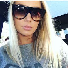 5d56f50fc289 Clair Oversize Cat Eye Sunglasses. Flat Top SunglassesSunglasses  WomenFashion BrandVintage DesignsBranding DesignEyeglassesBrandingBrand ...
