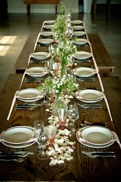 Dinner for 20 at our farm tables