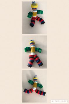 From recycled bottle screw caps to a puppet!!!