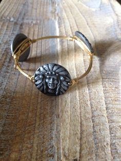 Bourbon and Boweties Indian Face Bangle $36 and Free Shipping! The best selection of Bourbon and Boweties bangles online! Visit our In Stock album to see over 700 available!