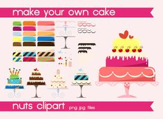 cake clipart, digital cake