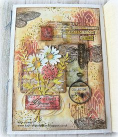 Tim Holtz Dies, Simon Says Stamp Blog, Art Journal Pages, Journal Covers, Art Journals, Distressed Painting, Art Journal Inspiration, Journal Ideas, Artist Trading Cards