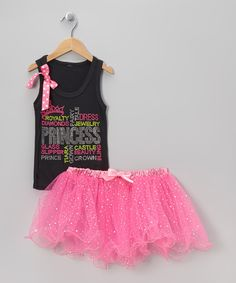 Take a look at this Black 'Princess' Tank & Tutu - Toddler & Girls on zulily today!