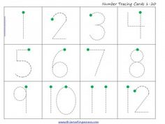 FREE Count and Trace the Numbers {1-20} Activity | This Reading Mama