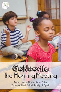 GoNoodle is such a great tool to get students moving but did you know there is another side to GoNoodle? Try using GoNoodle during the morning meeting. Morning Meeting Kindergarten, Morning Meeting Activities, Classroom Behavior, Kindergarten Classroom, Classroom Management, Classroom Ideas, Behavior Management, Classroom Routines, Class Management