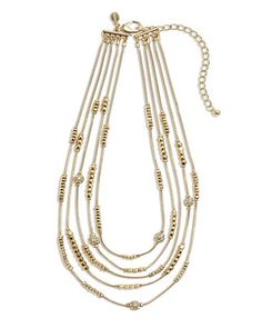 Chico's Hexie Gold Illusion Necklace #chicos