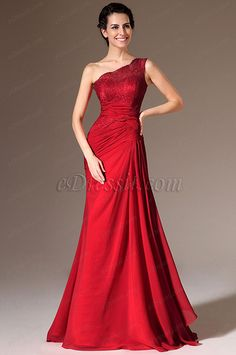 Red Long Chiffon and Lace One Shoulder Mermaid Bridesmaid Dress The Effective Pictures We Offer You About REd dress outif A quality picture Pretty Dresses, Beautiful Dresses, Beautiful Women, Mermaid Bridesmaid Dresses, Mermaid Dresses, Dress Prom, Chiffon Dress, Gala Dresses, The Dress