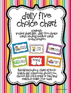 **Updated with 6 new designs to match any classroom!** Starting the Daily 5 (Daily Five) in your classroom, but unsure how to track your studen...