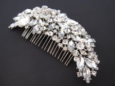 bridal hair combwedding comb hair accessorywedding by Amoretto