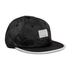 Shelter 6- Panel Ball Cap//Black+Reflective Detail at Touch of Modern!