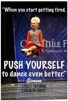 Irish dancer Simone Loysen - Target Training Strength Squad www.targettrainingdance.com