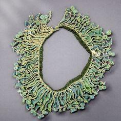 MICHELLE PAJAK-REYNOLDS-USA  - naturally dyed habotai silk, glass, quartz, sequins