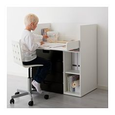 "STUVA Changing table with 4 drawers, white, black - 35 3/8x31 1/8x40 1/8 "" - IKEA"