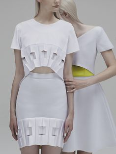Look 14 - SS15 - Georgia Hardinge, a sculptural fashion label inspired by architecture and innovative pleating techniques.