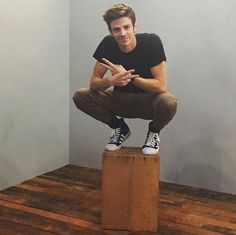 Grant Gustin posing for @GettyImages. #TheFlash #SDCC