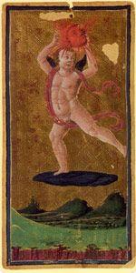 The Sun from the Visconti Sforza Tarot