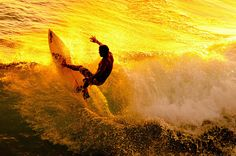 Surfing in a sea of gold
