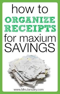 Can you remember when you last spent any time organizing receipts? Do they often end up in a crumpled mess on your kitchen table, in a drawer or in your pu