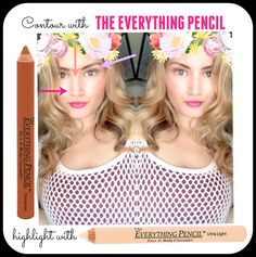 Contour and Highlight with The Everything Pencil #concealer