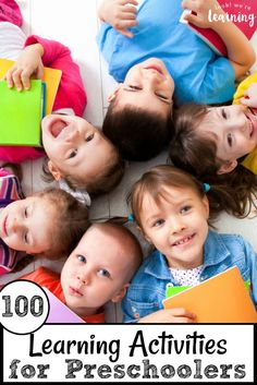 Find some awesome educational activities for early learners with this list of 100 learning activities for preschoolers! Early Childhood Activities, Preschool Learning Activities, Toddler Preschool, Educational Activities, Childhood Education, Preschool Activities, Preschooler Crafts, Preschool Prep, Preschool Projects