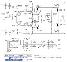 Jean Hiraga Super Class-A Amplifier Schematic