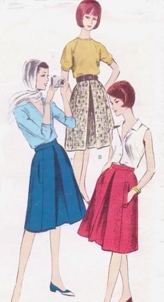 1960s Vogue Sewing Pattern 5964 Womens A Line by CloesCloset, $10.00