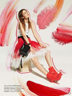 visual optimism; fashion editorials, shows, campaigns & more!: rijntje van wijk by mark pillai for elle australia december 2013