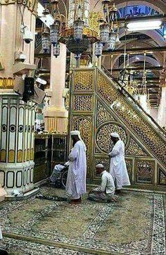 الروضة الشريفة بالمسجد النبوي الشريف بالمدينة المنورة