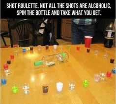 Shot roullette!?!? Haha. If I played drinking games, this would be a good one.