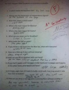 Awesome answers!