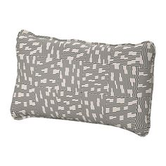 VALLENTUNA Back cushion, Funnarp black, beige Funnarp black/beige
