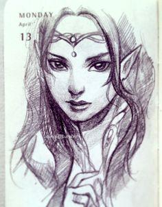 qinni: I'm going to start adding last year's. - Tricks Of A Strange Mind Manga Anime, Anime Art, Archer, Qinni, Elf Art, Fanart, Supernatural Beings, Anime People, Doodles