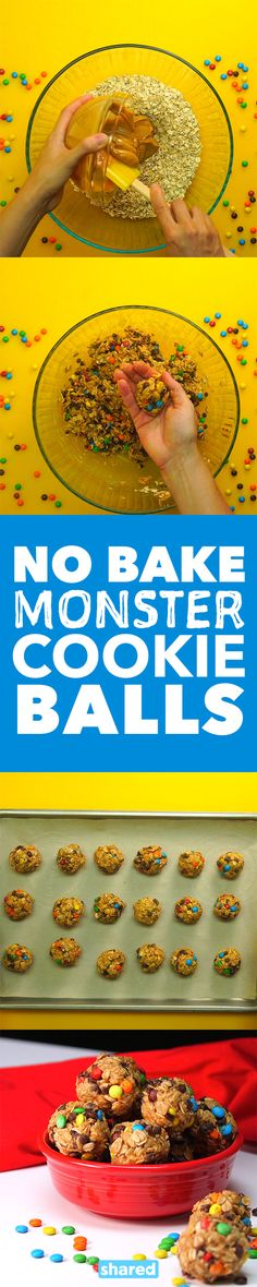 No Bake Monster Cookie Balls