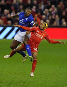 """""""FULL-TIME: Leicester come from two down to take a point against as it ends at Anfield"""" Leicester City Football, Liverpool Football Club, Liverpool Fc, Raheem Sterling, Premier League Champions, Best Club, Soccer, Take That, Running"""