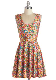 Queen of the Candy Shop Dress. Not only are you the owner and savvy confectioner of this candy shop, but youre also the sweetest sight here! #multi #modcloth