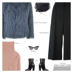 """""""Faux Fur Coats - Contest Entry"""" by amberelb ❤ liked on Polyvore featuring Alexander McQueen, Valentino, Gucci, Calvin Klein Underwear, Topshop, pushBUTTON and A.P.C."""