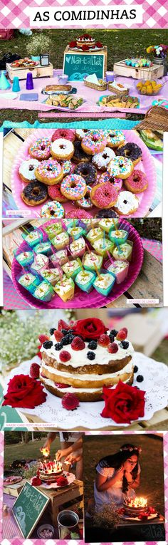 Love the brightly colored donuts and the flower crown