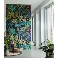 60 Best Ideas Of Tropical Wall Mural For Summer. Popular tropical wall murals create the illusion of paradise in your home. They can bring sunshine and warmth into a room with no windows or help stave. Tropical Wall Decor, Motif Tropical, Tropical Design, Tropical Wallpaper, Wall Wallpaper, Office Wallpaper, Botanical Wallpaper, Retro Wallpaper, Wallpaper Wallpapers