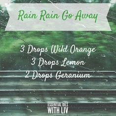 With all the rain over the weekend I needed something in the diffuser to brighten the mood. This is working a treat! What diffuser blend are you using today?