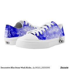 Decorative Blue Stone Wash Kickers