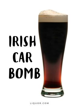 This beer and Irish whiskey cocktail is the perfect St. The Irish Car Bomb is a simple classic cocktail, just combine Irish cream, Irish whiskey, and Guinness beer. Irish Car Bomb Shot, Irish Car Bomb Drink, Drinks Alcohol Recipes, Beer Recipes, Punch Recipes, Cocktail Recipes, Alcoholic Drinks, Beverages, Whiskey Cocktails